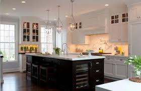 stylish clear glass kitchen pendant lights lighting ideas with