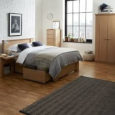 John Lewis Keep Oak Storage Bedstead Kingsize Johnlewishome JLhome Bedroom Furniture