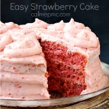 Easy Strawberry Cake 8 votes