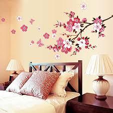 99native wandtattoo pfirsichblüte wanddekoration wallpaper dekor für wohnzimmer schlafzimmer romantisch wanddeko hintergrund wasserdicht diy