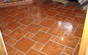 mexican tile floors traditional kitchen with glass panel breakfast