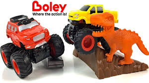 100 Boley Trucks UNBOXING BOLEY MONSTER TRUCK PLAYSET WITH FRICTION POWERED 50 PIECES