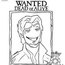 RAPUNZELS LONG HAIR FLYNN RIDER Coloring Page
