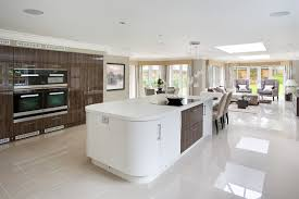 In An Ultra Modern Home With A Wide Open Plan Design The Kitchen