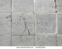 Close Up Cracked Concrete Brick Texture Pathway Cement Floors Top