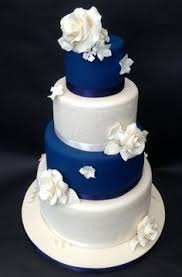 Royal Blue Wedding Cakes Fresh