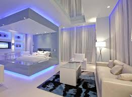 decorations modern bedroom lighting ideas with purple led hidden