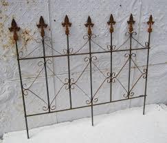 Decorative Garden Fence Border by Wrought Iron Diamond Garden Border Fence
