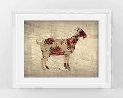 Goat Art Poster Modern Rustic Decor Farm Animal Print