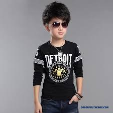Clothing Cotton Long Sleeved Korean Style Children Kids Autumn T Shirt For Handsome Boys