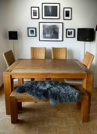 esstisch eiche bank 4 stühle esszimmergarnitur massivholz