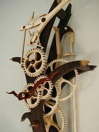 wood work wooden gear clocks pdf plans