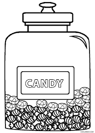 Coloring Pages Of Candy