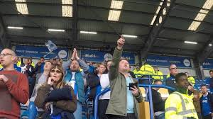 salle de sport pompey portsmouth and plymouth argyle fans singing after 1 1 draw at