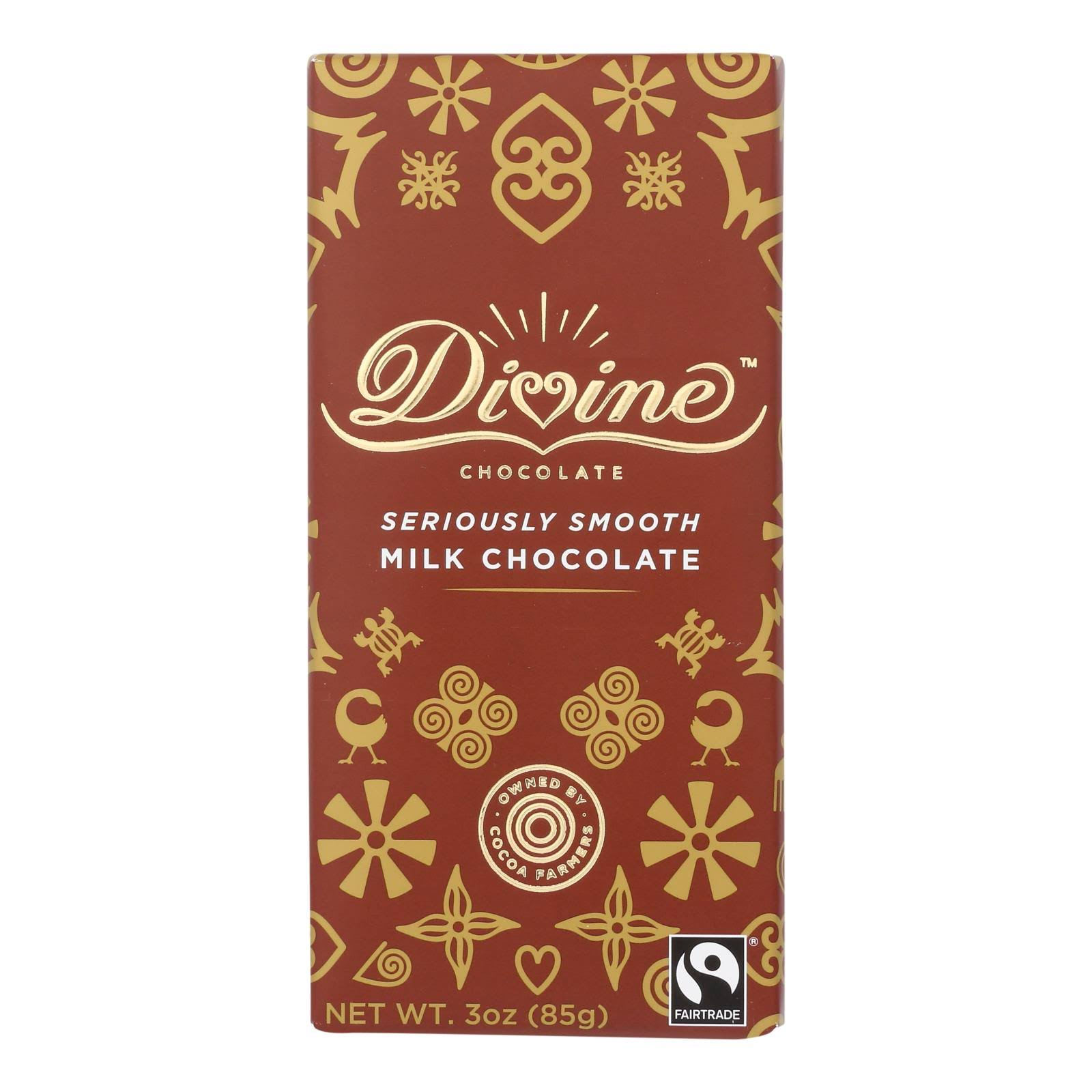Divine - Bar Milk Chocolate - Case of 12 - 3 oz