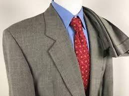 hugo plaid suit hugo gray plaid suit mens 40r 33x32 pleated cuffed ventless