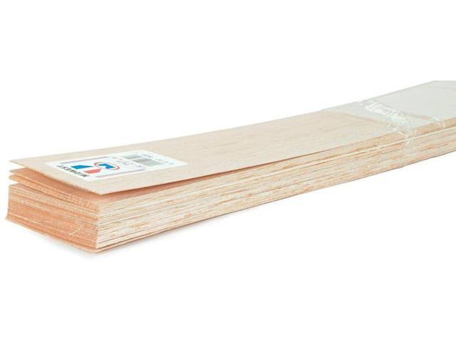 "Midwest Balsa Wood Strips - 1/4"" x 1"" x 36"", 10 Pieces"