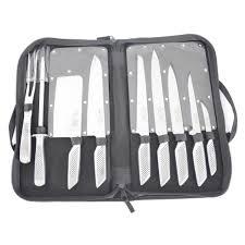 coutellerie professionnelle cuisine pochette couteaux 9 pièces série pro pochette achat vente