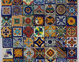 on sale mexican talavera tile 100 2 x 2 pieces for