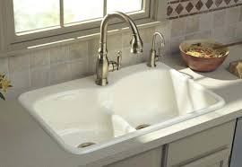 cosy bathroom sink with 2 faucets kitchen sinks one two or three