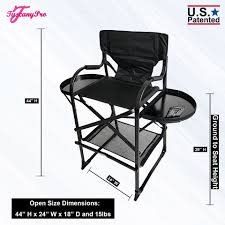 Tuscany Pro Tall Makeup Artist Portable Chair -29