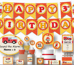 Fire Truck Birthday Decorations - Instant Download Printable Files ... Fire Truck Birthday Party With Free Printables How To Nest For Less Firefighter Ideas Photo 2 Of 27 Ethans Fireman Fourth Play And Learn Every Day Free Printable Invitations Invitation Katies Blog Throw A Themed On A Smokin Hot Maison De Pax Jacks 3rd Cheeky Diy Amy Tangerine Emma Rameys Firetruck Lamberts Lately Kids Something Wonderful Happened Decorations The Journey Parenthood Spaceships Laser Beams