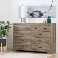 South Shore White Dressers by South Shore Versa 8 Drawer Weathered Oak Dresser 10609 The Home