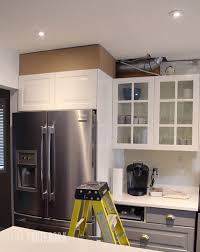 Kitchen Soffit Removal Ideas by Diy How To Disguise A Kitchen Soffit Pink Little Notebookpink