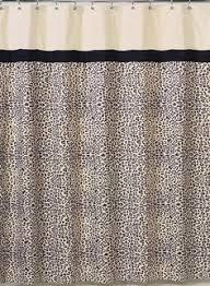 Sweet Jojo Zebra Curtains by Forest Friends Kids Bathroom Fabric Bath Shower Curtain Woodland