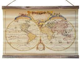 leinwand bild weltkarte atlas landkarte kunstdruck wand