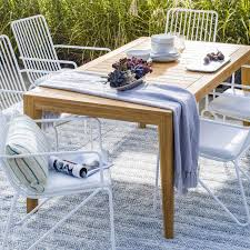 Round Dining Table Gray Teak Room Furniture Ideas Outdoor ...
