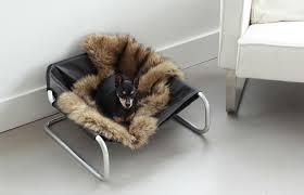 atria lounger stylish luxury pet bed hammock style leatherette
