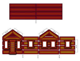 Cabin Outline Clipart Kid Log In Wood Coloring Page Free