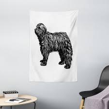 wandteppich wohnzimmer schlafzimmer wandtuch seidiges satin wandteppich abakuhaus rechteckig englisch sheepdog skizzierung kaufen