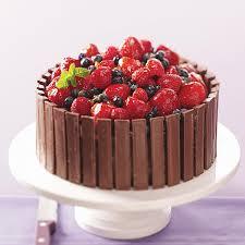 Chocolate Fruit Basket Cake