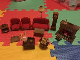 sylvanian families wohnzimmer möbel kamin sofa