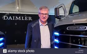 4 June 2018, Portland, USA: The CEO Of Daimler Trucks North America ... Inside Daimler Trucks North America Hq Photos Equipment Unveils Two Freightliner Electric A Century Of Superior Buses Aleksandr Aseyev Senior Engineer Ii Driver Comfort Systems Is Testing Electric Delivery Trucks On The West Coast Truck Recalls Blog Recalling Jason Kerbe Customer Application Meritor Wabco Named Exclusive Service Brake Chamber Supplier For And Walmart Develop Hybrid Cascadia Hoover Dam Barco Says Growth Outpacing Market