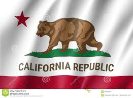 Flag Of California American State Stock Vector