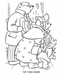 Goldilocks And Three Bears Nursery Rhyme Coloring Pages