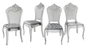 chaises plexiglass lot de 4 chaises astorga design en plexi transparent mobilier moss