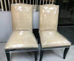 Dining Chair Protective Covers Plastic Room Chuck Protector