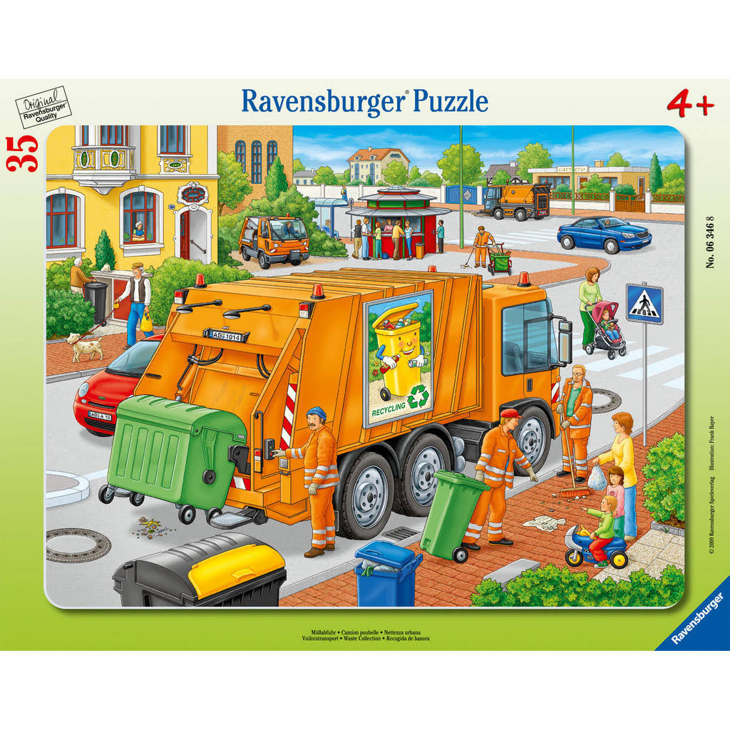 Ravensburger Jigsaw Puzzle - Waste Collection Frame, 35pcs