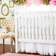 White Crib Bedding Linen Baby Bedding