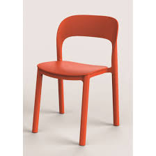 chaise de jardin en résine injectée ona orange leroy merlin