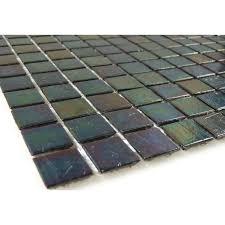 hakatai 3 4 x 3 4 black glass square tile glossy iridescent