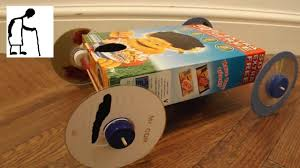 cereal box rubber band powered car youtube