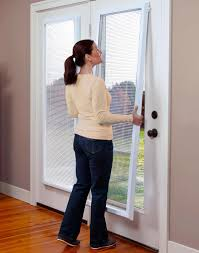 Masonite Patio Door Glass Replacement by Odl Add On Blinds Door Window Treatments Between The Glass Blinds