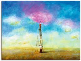 artland wandbild rosarote wolke 1 paar 1 st in