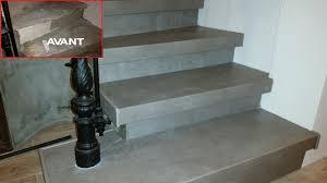 beton cire sur escalier bois rénovation escalier béton ciré rénovation d escalier rénover