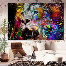 leinwand deko bild abstrakt löwe wandbilder kunstdruck
